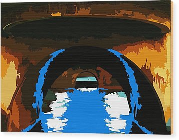 Canal Zone  Wood Print