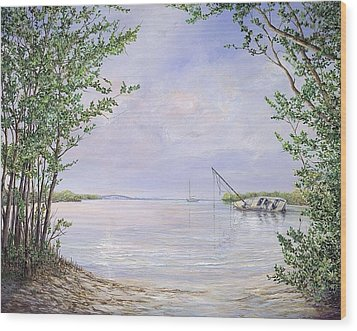 Canaveral Cove Wood Print by AnnaJo Vahle