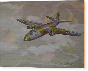 Wood Print featuring the painting Canberra Sortie by Murray McLeod