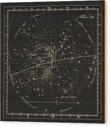 Cancer Constellations, 1829 Wood Print by Science Photo Library