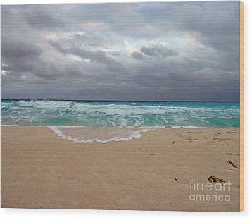 Cancun - Dark Sky Wood Print