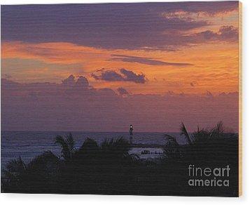 Cancun Lighthouse Wood Print by Halifax photographer John Malone