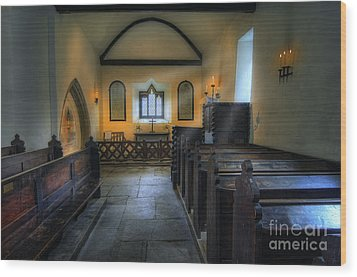 Candle Church Wood Print by Ian Mitchell