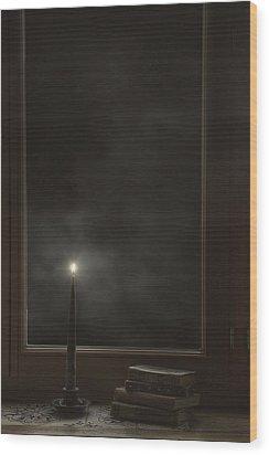 Candle Light Wood Print by Joana Kruse