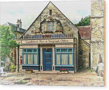 Candleford Post Office Wood Print