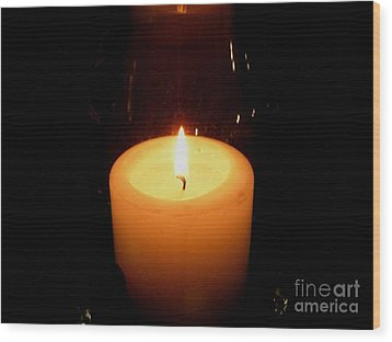 Wood Print featuring the photograph Candlelight Moments by Joseph Baril