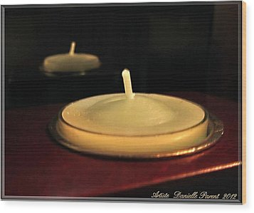 Candles And Relaxation Wood Print by Danielle  Parent