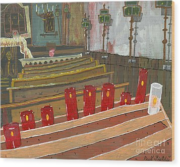 Candles In Cinque Terra Wood Print