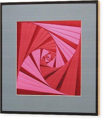 Candy Cane Wood Print by Ron Davidson