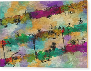 Wood Print featuring the digital art Candy-coated Chords 1 by Lon Chaffin
