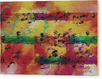 Wood Print featuring the digital art Candy-coated Chords 2 by Lon Chaffin
