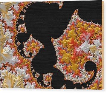 Candy Corn Wood Print by Susan Maxwell Schmidt