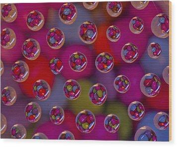 Candy Drops Wood Print by Brendan Quinn