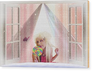 Wood Print featuring the digital art Candy Kisses by Liane Wright