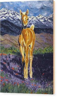 Candy Rocky Mountain Palomino Colt Wood Print