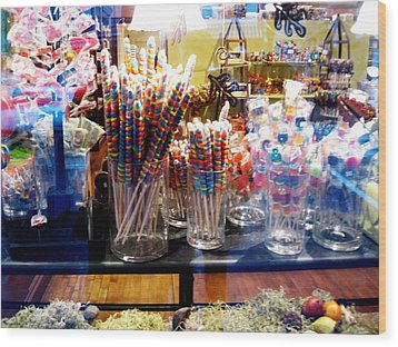 Candy Store 2 Wood Print by Will Boutin Photos