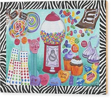 Candy Window Wood Print by Carla Bank