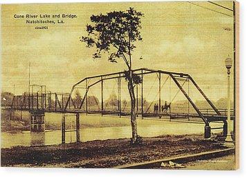Cane River Lake And Bridge C1921 Wood Print