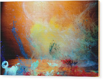 Canis De Galactic Wood Print by Petros Yiannakas