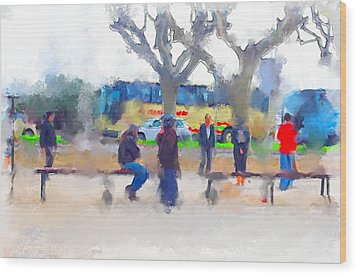 Cannes In Winter Wood Print by Yury Malkov