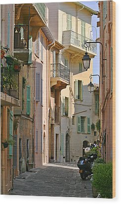 Cannes - Le Suquet - France Wood Print by Christine Till