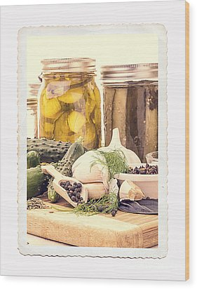 Canning Kitchen Art Wood Print by Edward Fielding