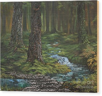 Cannock Chase Forest Wood Print by Jean Walker