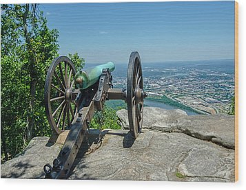 Wood Print featuring the photograph Cannon At Point Park by Susan  McMenamin