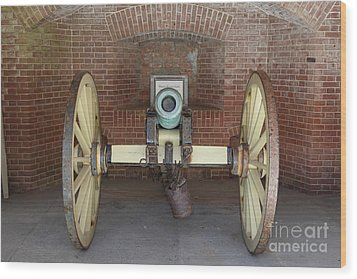 Cannon At San Francisco Fort Point 5d21490 Wood Print by Wingsdomain Art and Photography