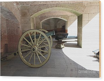 Cannon At San Francisco Fort Point 5d21495 Wood Print by Wingsdomain Art and Photography
