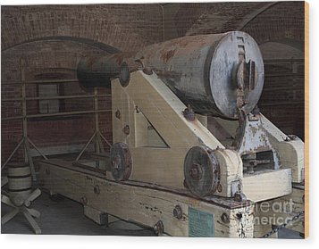 Cannon At San Francisco Fort Point 5d21499 Wood Print by Wingsdomain Art and Photography