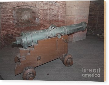 Cannon At San Francisco Fort Point 5d21503 Wood Print by Wingsdomain Art and Photography