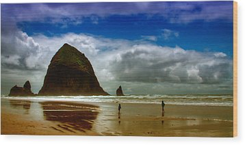 Cannon Beach At Dusk II Wood Print by David Patterson