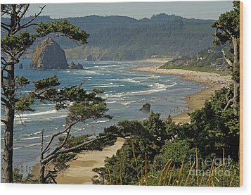 Wood Print featuring the photograph Cannon Beach Seascape by Nick  Boren
