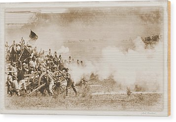Wood Print featuring the photograph Cannon Fire by Judi Quelland