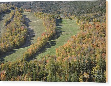 Cannon Mountain - White Mountains New Hanpshire Wood Print by Erin Paul Donovan