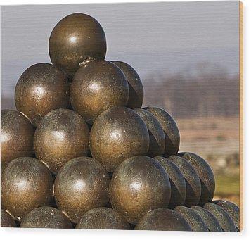 Cannon Shot At High Water Mark Wood Print