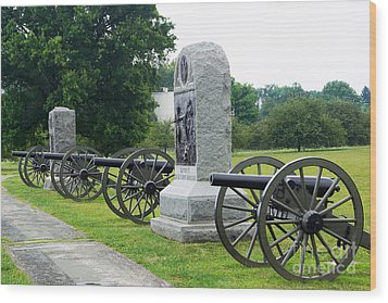 Cannons At Gettysburg Wood Print