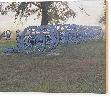 Wood Print featuring the photograph Cannon's In Fog by Michael Porchik