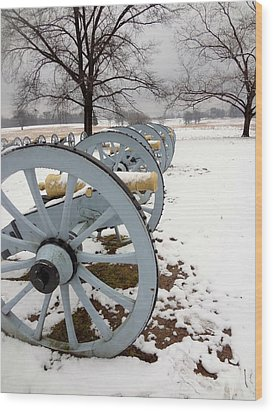 Cannon's In The Snow Wood Print by Michael Porchik