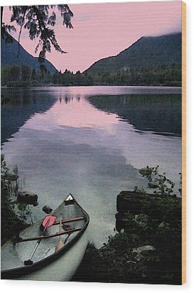 Canoe Day Wood Print