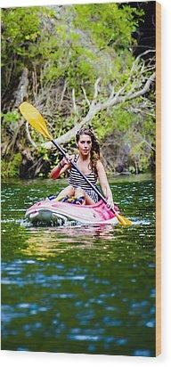 Canoe For Girls Wood Print by Sotiris Filippou