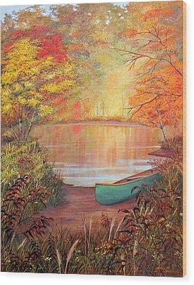 Canoe Landing  Wood Print by John Samsen