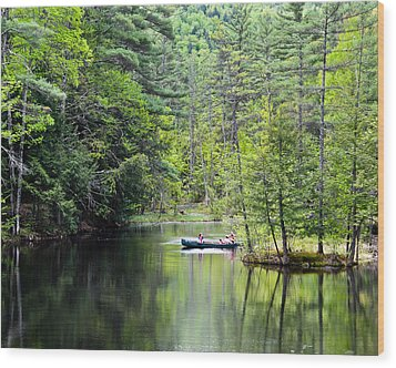Canoe Ride Wood Print