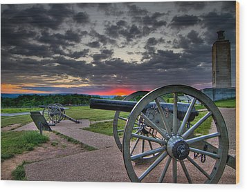 Canon Over Gettysburg Wood Print by Andres Leon