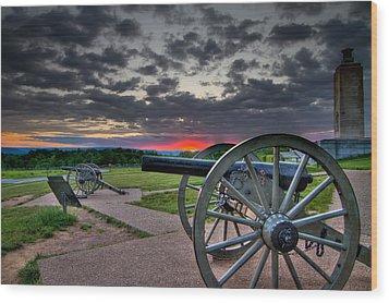 Canon Over Gettysburg Wood Print