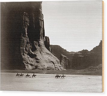 Canonde Chelly Az 1904 Wood Print by Edward S Curtis