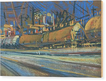 Canton Tracks Wood Print by Donald Maier