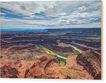 Canyon Country Wood Print by Chad Dutson