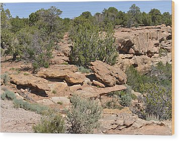 Canyon De Chelly - A Blend Of Cultures Wood Print by Christine Till
